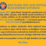 İptal: Efes Pilsen One Love Festival 12